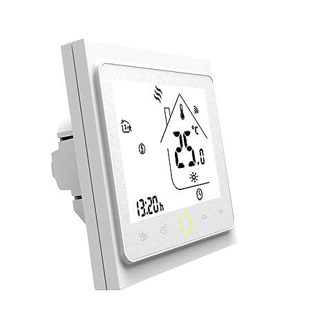 Blusea Termostato Programable WiFi 3A para calefacción Individual ...