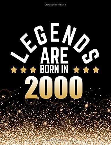 Legends Are Born In 2000: Birthday Notebook/Journal For Writing 100 Lined Pages, Year 2000 Birthday Gift, Keepsake Book (Gold & Black) ebook