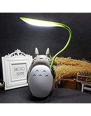 Totoro Anime LED-nattlampa barnfigurlampa, USB-laddning, skrivbords-säng-läslampa, Whitebelly