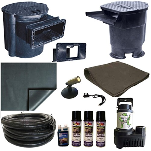 15 x 20 PVC Large Koi Pond Kit 5500 GPH Pump Savio 22 Inch Waterfall and Skimmer PVCLS8