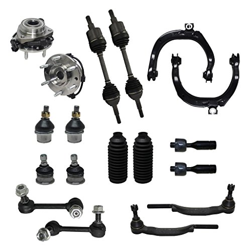 - Detroit Axle - 16mm Tie Rod Ends Only Check Before YOU Order Complete 18pc Front Suspension Kit - Front: 2 Cv Axle Shafts, 2 Wheel Bearings, 2 Upper Control Arms, All (4) Ball Joints,…