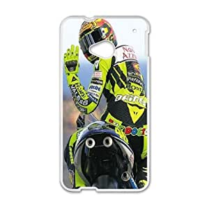 Pattern Hard Case Cover HTC One M7 Cell Phone Case White Valentino Rossi Ifrfp Back Skin Case Shell