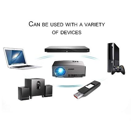 GP80 Mini proyector portátil 1080P proyector LED LCD proyector VGA ...