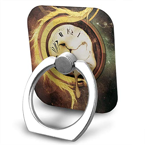 Square Finger Ring Stand 360°Rotation Phone Holder Grip Artistic Clocks Kickstand for Smartphones and ()