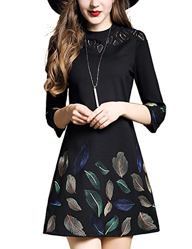 floral embroidery dress - 5