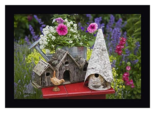 Bird Houses and Planter on Garden Table by Don Paulson - 23