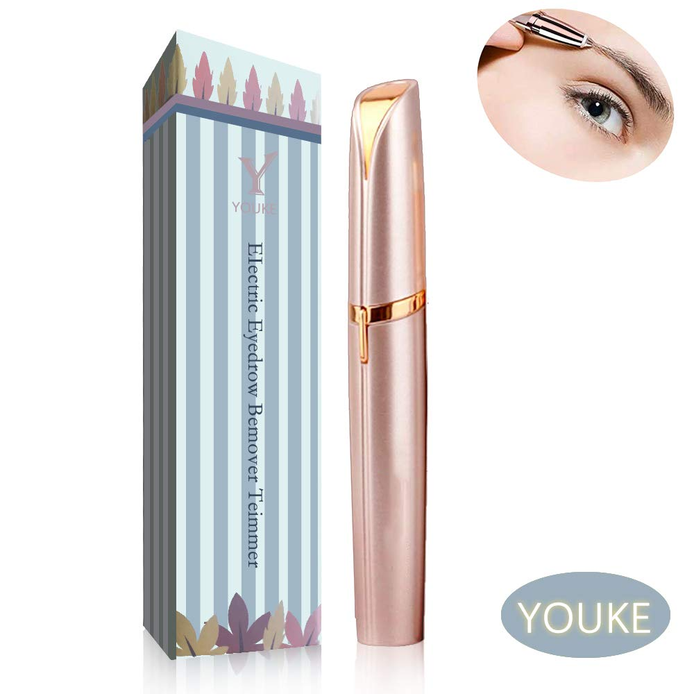 Flawless Brows Hair Remover, Women's Painless Hair Remover for Nose, Eyebrow Hair, Flawless Touch,AA Battery Not Included Youke