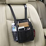 Autvivid Universal Multi Purpose Car Seat Back Organizer with Both Side Pocket Storage Bag Large Capacity Container for Office Travel Home Notebook Wallet Smart Phone iPhone iPod Samsung Pixel