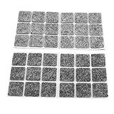 uxcell® Furniture Antislip Adhesive Felt Floor Protector Pads 54 Pcs