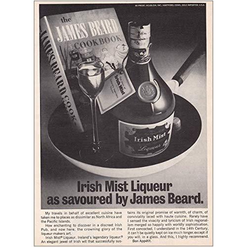 RelicPaper 1970 Irish Mist Liqueur: Savoured by James Beard, Irish Mist Print - Liqueur Mist
