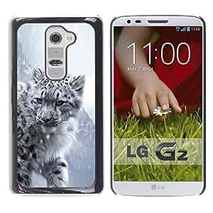 PC/Aluminum Funda Carcasa protectora para LG G2 D800 D802 D802TA D803 VS980 LS980 Majestic Snow Panther Tiger Lion / JUSTGO PHONE PROTECTOR