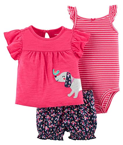 - Carters Baby Girls 3 Piece Diaper Cover Set (Baby), Navy/Pink Puppy, 18 Months