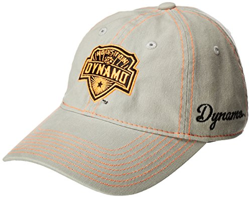 MLS Houston Dynamo Adult Women MLS SP17 Neon Logo Adjustable Slouch Cap,Osfa,Gray ()