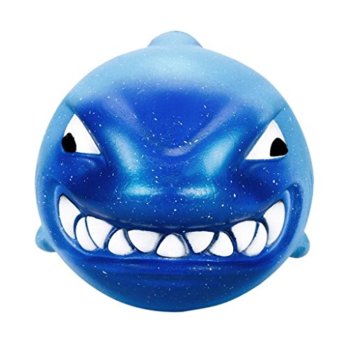 HOT SALE Slow Rising Squishy Toy, Makeupstore 12CM Squishy Big Shark Cream Scented Slow Rising Stress Reliever Squeeze Collection Charm Toys Fun Simulation Kid Toy (Bule) -