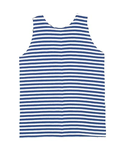 Striped Tank Top Russian Soviet Military Army Marines Airborne Navy (Blue, L)