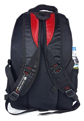 GFM robustem-Rucksack für Schule, Uni oder Arbeit Rot - RM72 - Purple