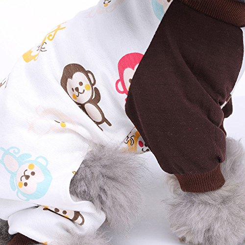 HongYH Dog Clothes Dogs Dog Cotton Puppy Rompers Pet Bodysuits for Small Dogs and Cats