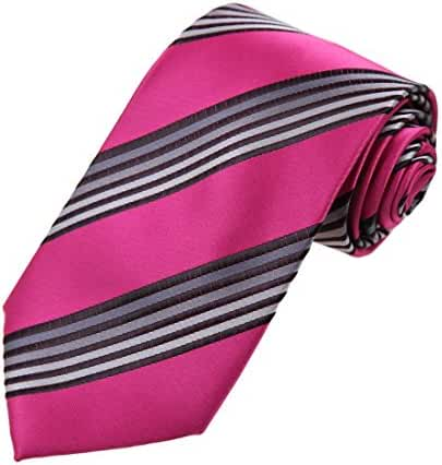 DAA7A.05 Happy Stripes Microfiber Tie For Husband Neckwear By Dan Smith