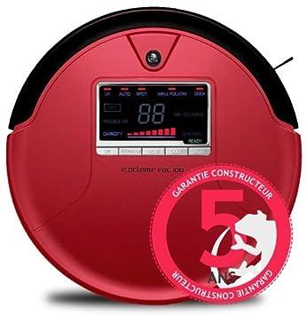 E.zicom e.ziclean VAC 100 - Robot aspirador, color rojo: Amazon.es: Hogar