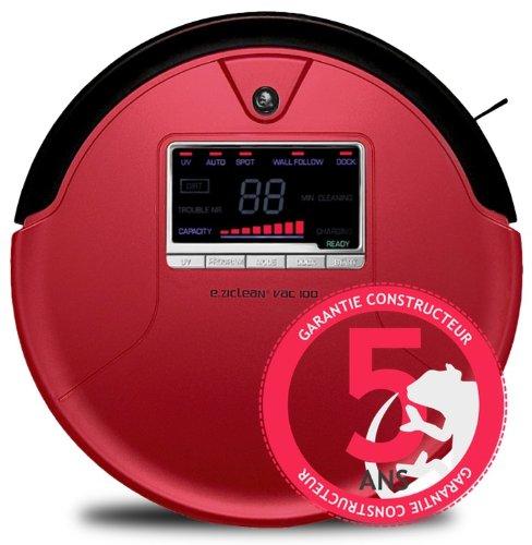 E.zicom e.ziclean VAC 100 - Robot aspirador, color rojo: Amazon.es ...