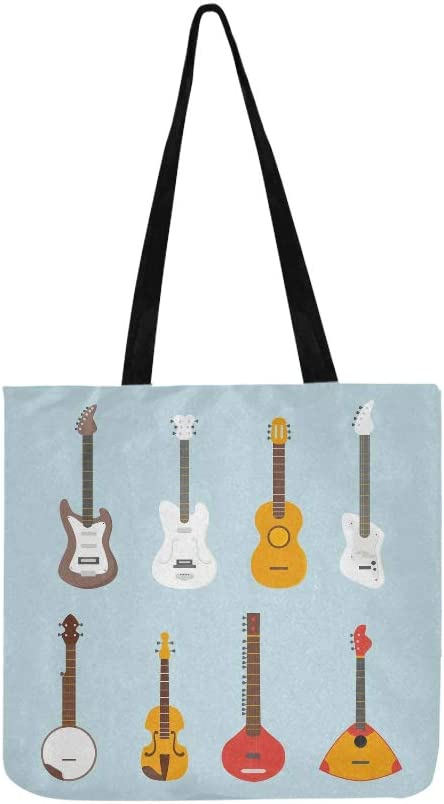 Guitarra hermosa Varias guitarras vectoriales Bolsas de lona Bolso ...