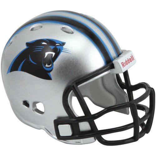 Nfl Revolution Pocket - Riddell NFL Carolina Panthers Pocket Pro Micro Helmet - Silver