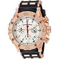 Swiss Legend Men's 'Hunter' Swiss Quartz Stainless Steel and Silicone Casual Watch, Color:Black (Model: 15253SM-RG-02S)