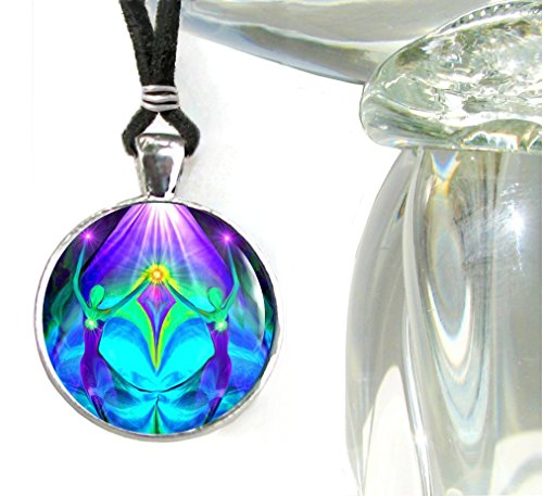 Twin Flames Necklace, Soulmate Jewelry, Heart Pendant ()