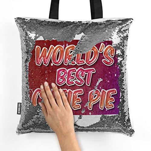 NEONBLOND Mermaid Tote Handbag Worlds best Cutie Pie, happy sparkels Reversible Sequin