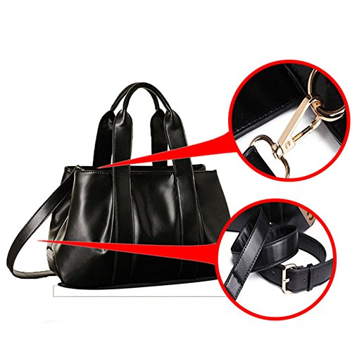 burst bag 2018 model kinds leather Black bag bag JVPS15 shoulder dumpling method handbag back women's three bags American ladies' messenger large vintage capacity Ms R PU European fashion and q5RwE