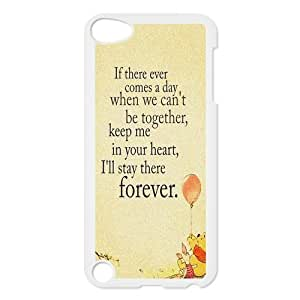 iPod 5 Cases - Winnie the Pooh Waterproof Case for Apple iPod Touch 5th Generation,iPod Touch 5 Case,Screen Protector for iPod Touch 5/5th generation (Black/white)