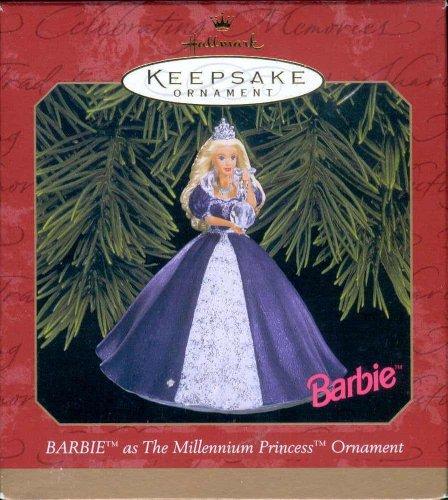 1999 Millennium Princess Barbie Hallmark Keepsake Ornament