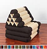 Leewadee Foldout Triangle Thai Cushion, 67x21x3 inches, Kapok Fabric, Brown, Premium Double Stitched