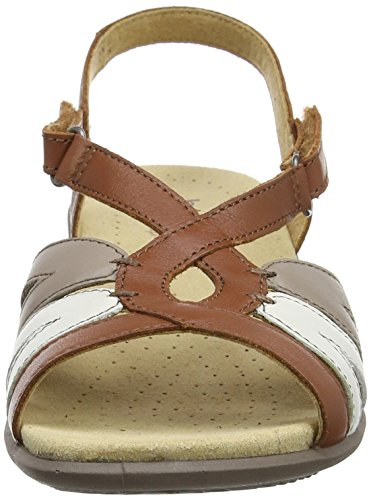 Tan Hotter Flare Multi Women's EXF Sandals Toe Brown Open q40z6rq