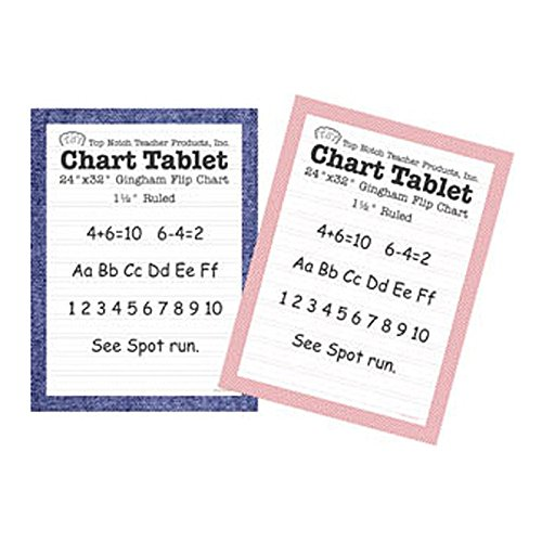 Chart Tablets 16x24 Assorted Ruled Supplies Paper Top3841 Top Notch Teacher Products