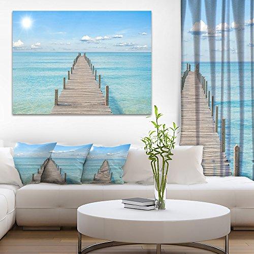 (Pier Infinite to the Sea Seascape Canvas Art Print)