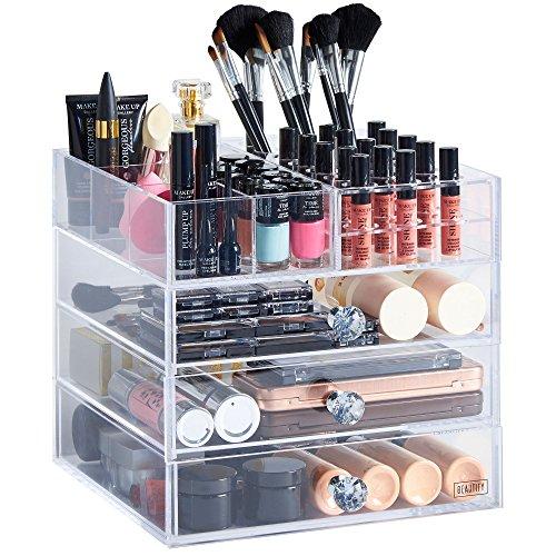 Large clear makeup organizer