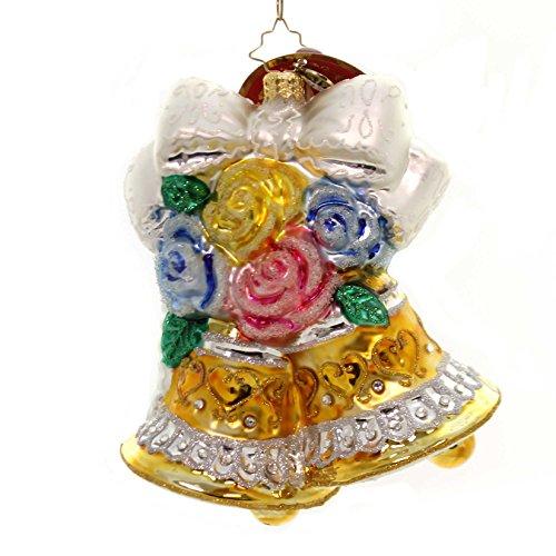 Bridal Ornaments (Christopher Radko Bells and Blossoms Bridal Christmas Ornament)