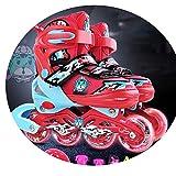 JZX Skates, Children's Full Set of Men's and Women's Skates,Red,33-37