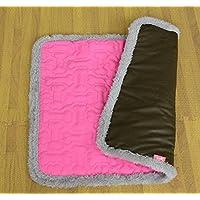 Enzhe Pet Lovely Design Doppelgebrauchs-Haustier-Schlafenmatte-Hundekatzen-Welpen-Auflage-Kissen-Bett (Rosa, L)