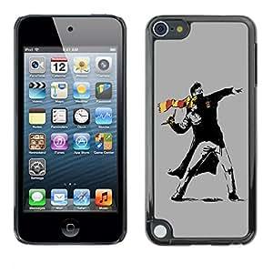 TopCaseStore / la caja del caucho duro de la cubierta de protección de la piel - Street Art Rebel - Apple iPod Touch 5