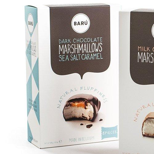 BARU Marshmallow Dark Chocolate Salt Caramel 9Pc, 4.23 OZ