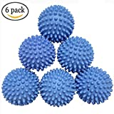 Laundry Dryer Balls - Eco Friendly Fabric Softener Alternative Replaces Liquid Softener, Dryer Sheets & Wool Dryer Balls