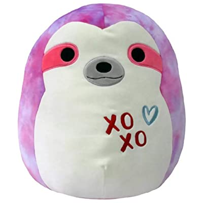 "Squishmallows 16"" Soft Plush Toy Pillow Valentines (Tie Dye Sloth) Sharie: Home & Kitchen"