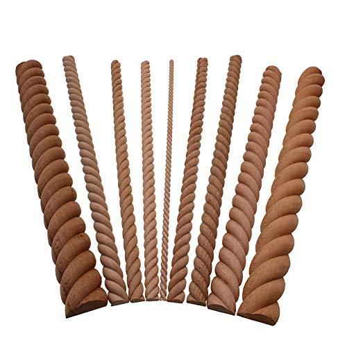 ZANAN Figurines & Miniatures - Wooden Carved Wood Twist Lines Style Decorative Indoor Door Semi Home Decor Decoration Accessories Figurines Miniatures DIY 1 PCs
