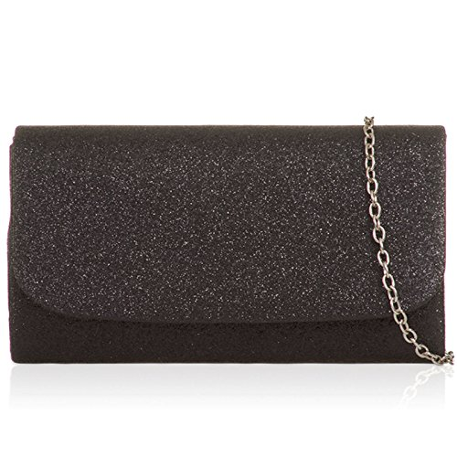 Sizes Evening in Glitter Xardi Sparkling with Sequins Ladies For Women Chain Bags Small Handheld Fabric Strap Black London Bridal Detachable Clutch Medium qAOxAwvga