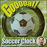 Audio Goal Soccer Wall Clock - Andres Cantor's Famous Gooooal Call with Optional Tabletop Display