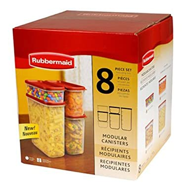 Rubbermaid 8-Pc. Modular Canisters Food System Dry Food Storage Containers (FG7M7500CHILI)