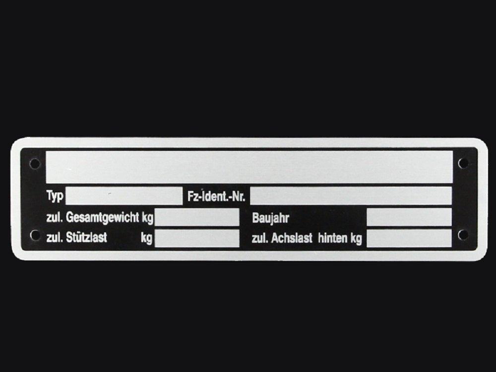 Blank pendentif plaque signalé tique plaque signalé tique remorque Neutre The Drive