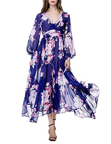 asos 3/4 sleeve wrap maxi dress - 6